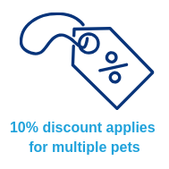 10% discount for multiple pets