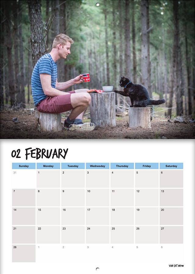 van cat meow calendar