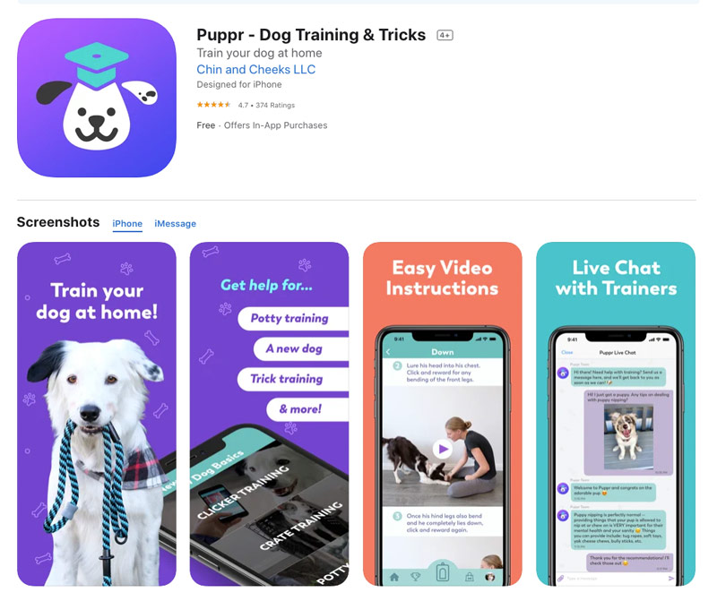 Puppr – Dog Training and Tricks app