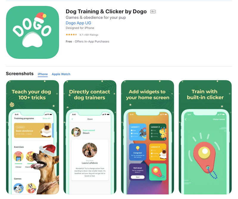 Dog Training and Clicker by Dogo app