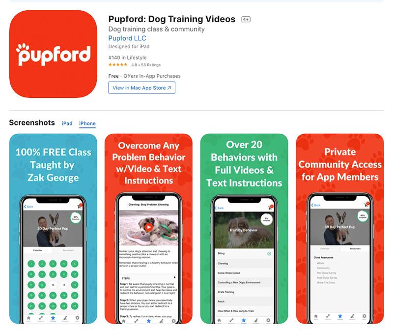 Pupford- Dog Training Videos app