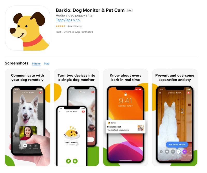 barkio pet cam and webcam app