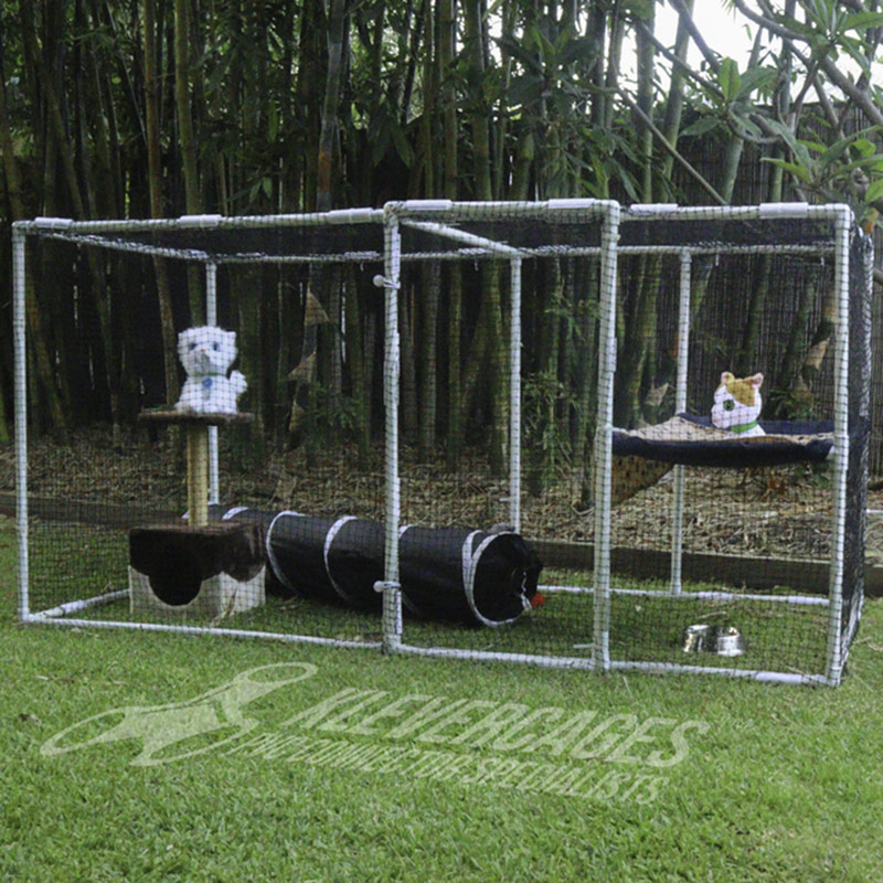 Klever Cages Catio Cat outdoor/indoor enclosure kit (2m x 1m x 1m) with optional hammock - $369.92